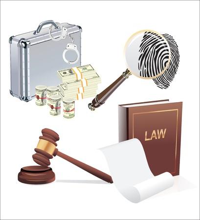Vector law set  Stock Vector - 19600529
