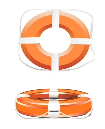 lifebelt: Red life buoy  Vector