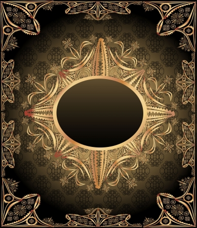 Seamless background with vintage frame  Retro style Stock Vector - 19893121