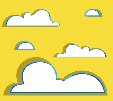 illustration of clouds collection Vector