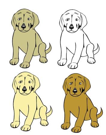 Cute cartoon puppy dog Stock Vector - 19893163