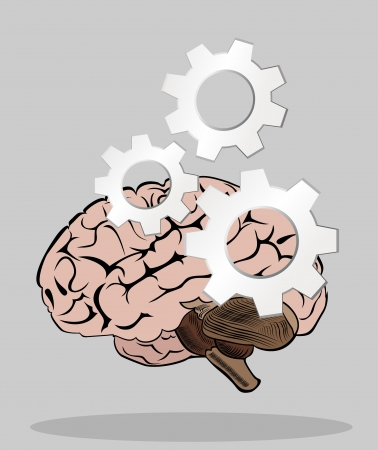 human head with gears concept Stock Vector - 19893176
