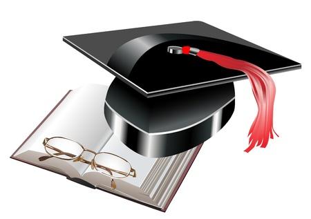 black graduate: education background Illustration