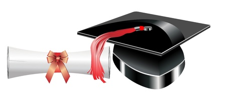 Graduation hat and Diploma Stock Vector - 19893188