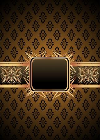 Vintage frame on damask background Stock Vector - 20203872
