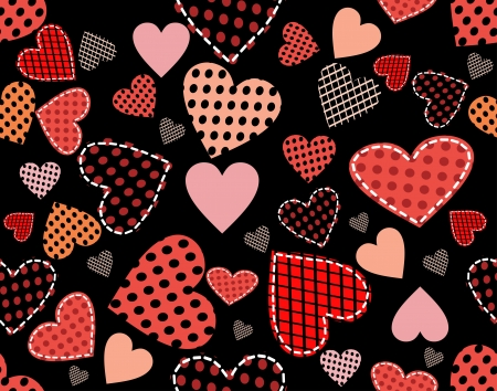 Abstract background hearts Vector
