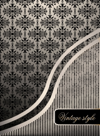 Vintage seamless wallpaper with a ribbon and frame Stock Vector - 21237234