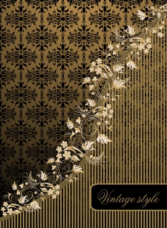 Vintage seamless wallpaper with a ribbon and frame Stock Vector - 21237236