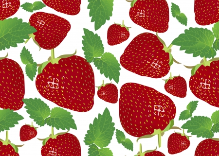 contrasting: Seamless background with strawberries