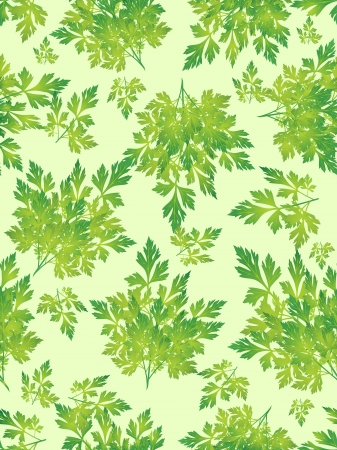 seamless grass background, parsley green leaves on the green background Vector
