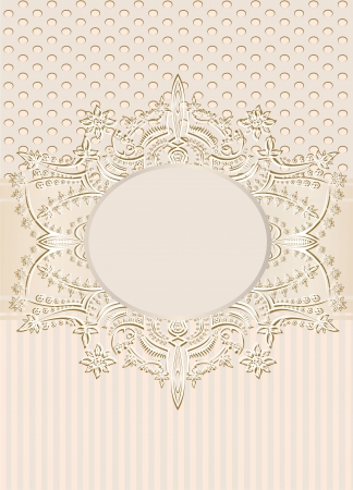 Vintage seamless wallpaper with a ribbon and frame in pastel colors  Stock Vector - 21237319