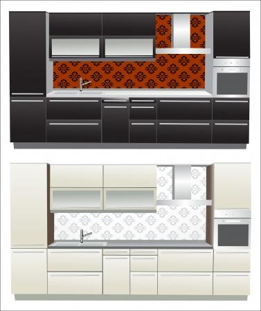 modern kitchen interior: Modern kitchen interior  Illustration
