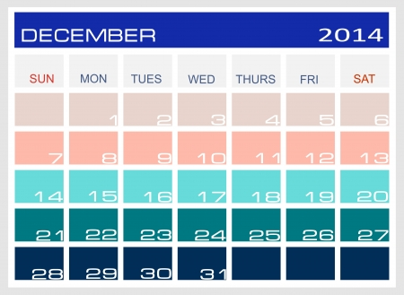 december kalender: kalender december 2014