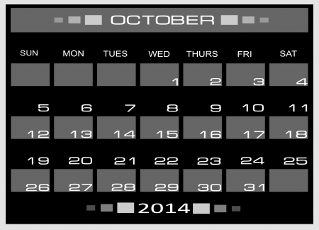 kalender oktober: kalender oktober 2014