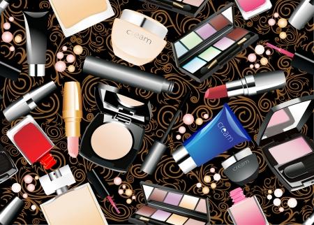 ceremonial makeup: Cosmetics seamless background