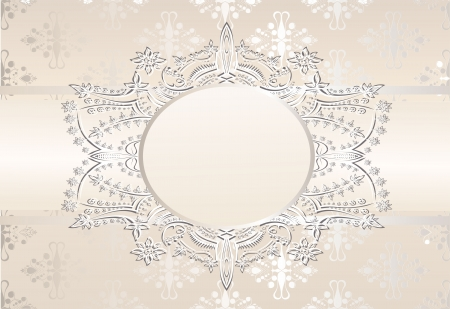 Vintage seamless wallpaper with a ribbon in pastel colors Stock Vector - 22894271