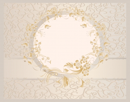 Vintage seamless wallpaper with a ribbon in pastel colors  Stock Vector - 22894278