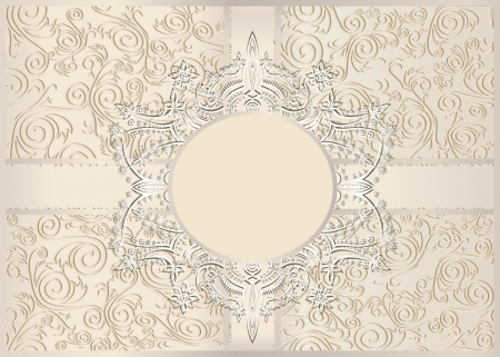 Vintage seamless wallpaper with a ribbon in pastel colors Stock Vector - 22894284
