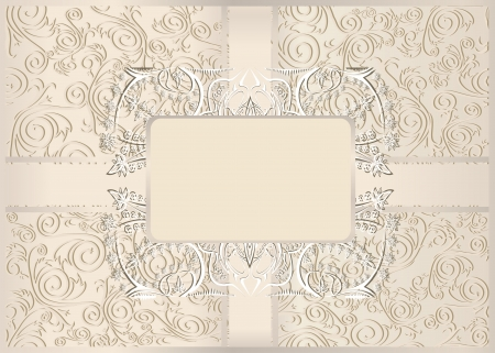 Vintage seamless wallpaper with a ribbon in pastel colors  Vector