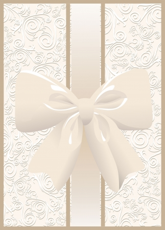 Vintage seamless wallpaper with a ribbon Vector