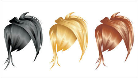 comb out: Set of hair styling