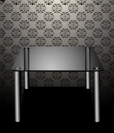 table en verre moderne