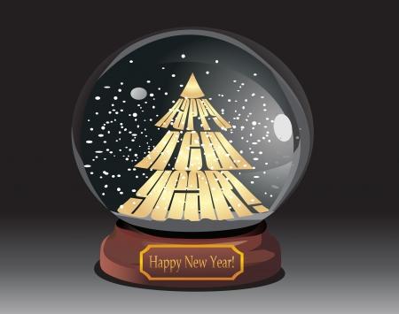 joyous: Snow globe with christmas tree