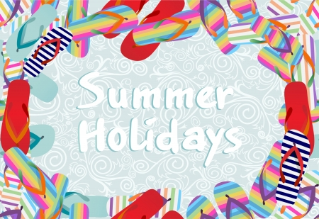 summer holidays seamless pattern Vector