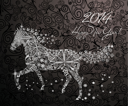 Year of horse  Happy new year 2014