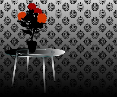 Flowers on table Vector