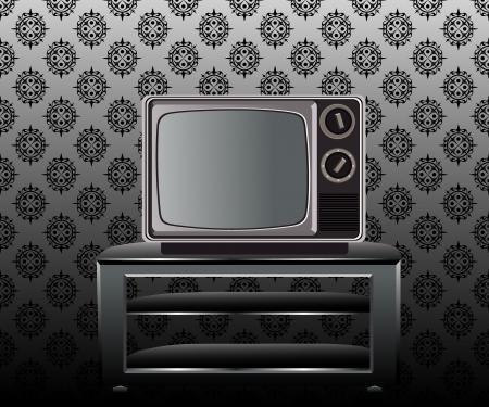 retro and classic television Vector