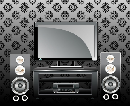 sub woofer: TV and music speakers