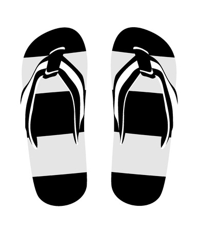 Pair of flip-flops isolated on a white background illustration Stock Vector - 25032348