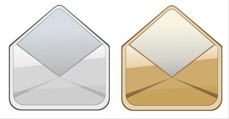 envelope on white background  Stock Vector - 25032296
