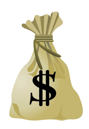 moneybag: Money bag with dollar sign Illustration