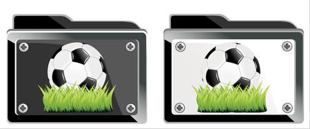 chancellery: symbol of soccer ball business folder