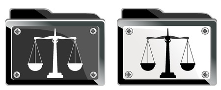 scales of justice, and folder Vector