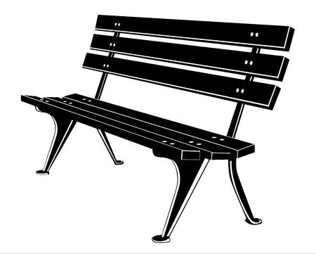 yard furniture: Bench Illustration