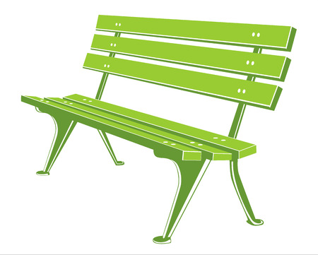 Green Bench Vector
