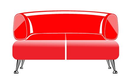headboard: Modern red sofa Illustration