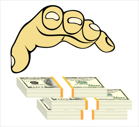 debt collection: Money in the hand