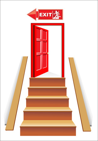 window case: Exit and staircase