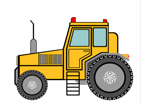 old tractor: oude landbouwtrekker Stock Illustratie