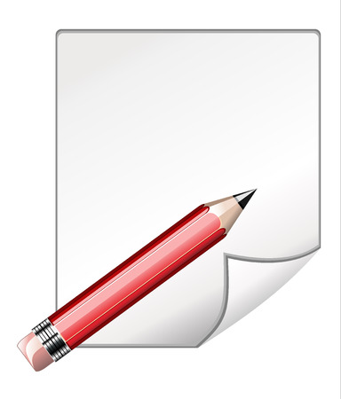 illustration of blank paper and pencil on abstract Stock Vector - 25155914