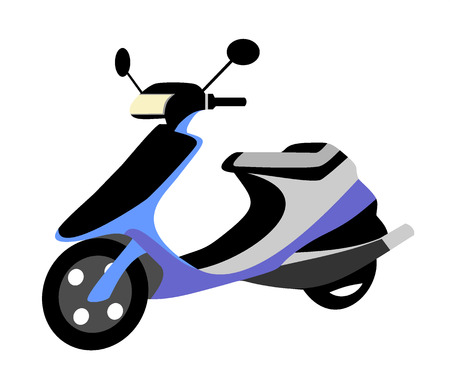 restored: Scooter classic style illustration