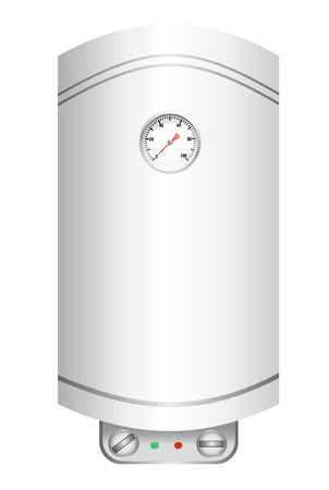 Electric water heater isolated on white Illustration
