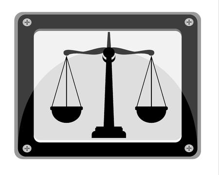 justice scales: ilustraci�n de las escalas de la justicia