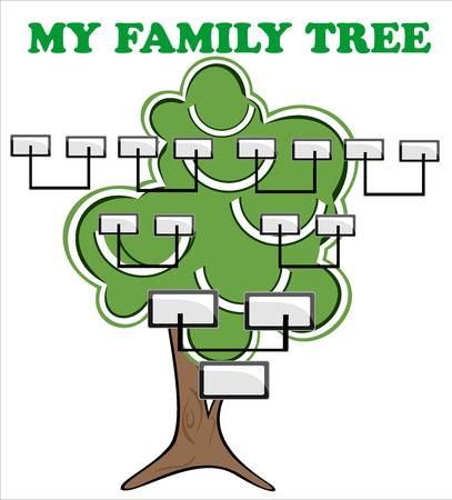 Concept illustration  family tree  Vector