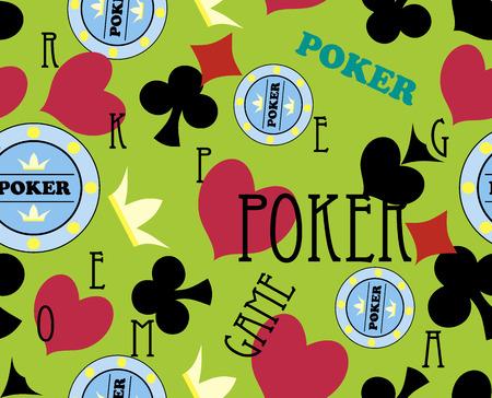 seamless casino pattern Vector