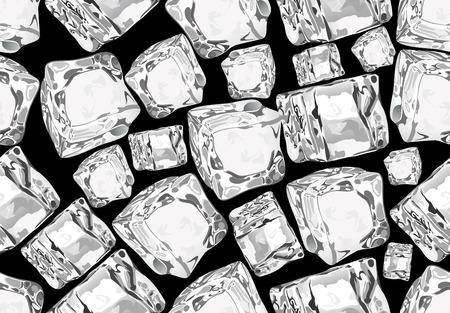 cubetti di ghiaccio: cubetti di ghiaccio senza soluzione di continuit�. Vettoriali